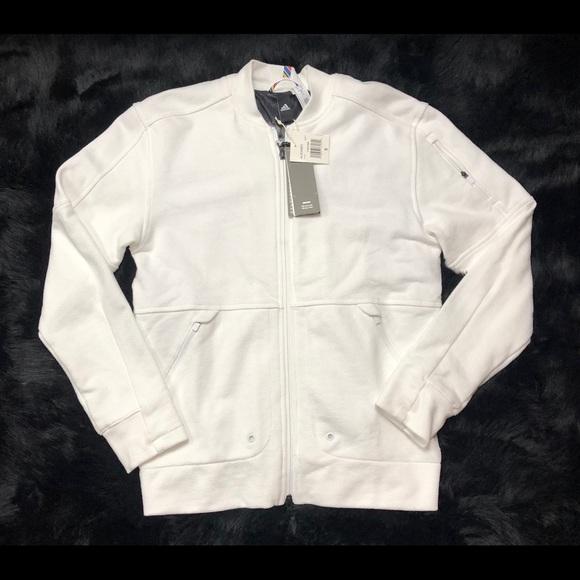 3df5934a5 adidas Sweaters   Arthur Ashe Legacy Bomber Sweater Full Zip   Poshmark